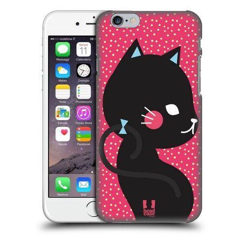 Head case Etui plastikowe na telefon - cats and dots black cat in pink