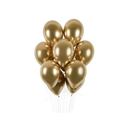 Balony lateksowe shiny złote - 33 cm - 5 szt. (5907509903465)