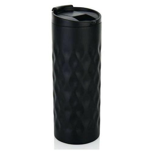 XD Design - Kubek termiczny Geometric 350 ml - czarny - czarny, kolor czarny