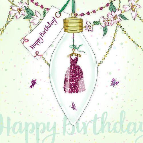Karnet swarovski kwadrat cl2808 urodziny sukienka marki Clear creations