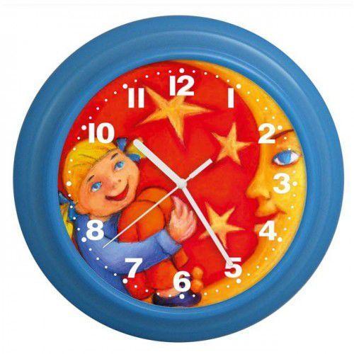 Zegar kolorowy dziewczynka i księżyc, ATE9920KD