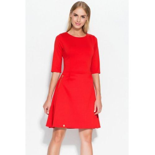 Sukienka model m316 red marki Makadamia