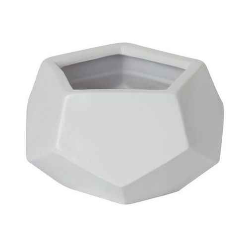 Doniczka ceramiczna GoodHome ozdobna 9 cm biała, C52