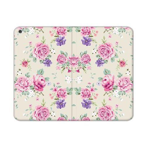 Etuo flex book fantastic Apple ipad mini 4 - etui na tablet flex book fantastic - pastelowe różyczki