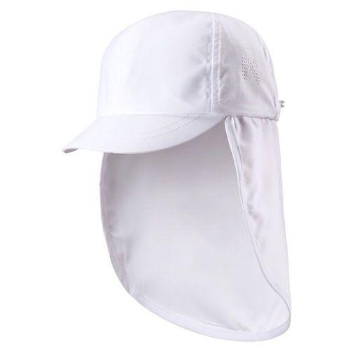 Reima Czapka przeciwsłoneczna uv alytos biała, osłona karku - biały (6416134644968)