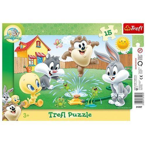 Trefl Looney tunes puzzle ramkowe 15 zabawa w ogrodzie (5900511312072)