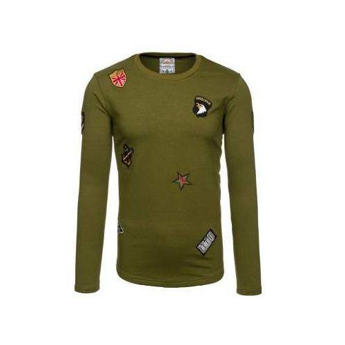 Bluza męska bez kaptura zielona denley 0739 marki Athletic