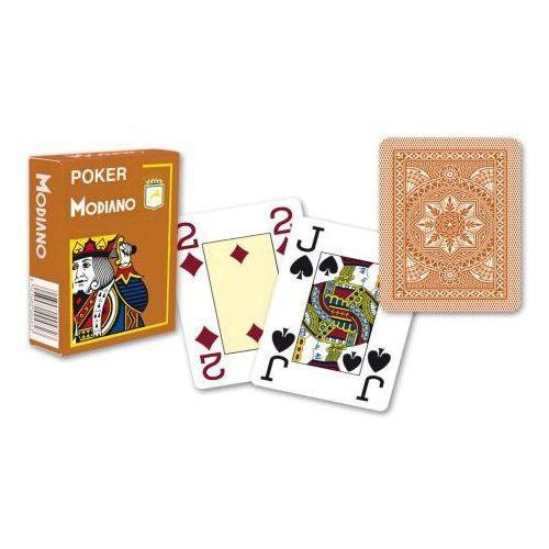 Modiano 4 rogi 100% karty plastikowe - brązowe (8003080004878)