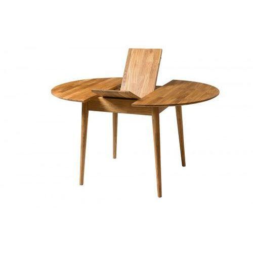 Signu Design Stół drewniany, dębowy okrągły rozkładany FABIO