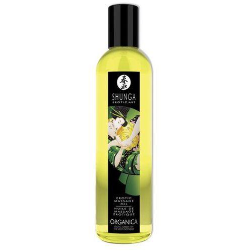 Organiczny olejek do masażu - massage oil organic green tea zielona herbata marki Shunga