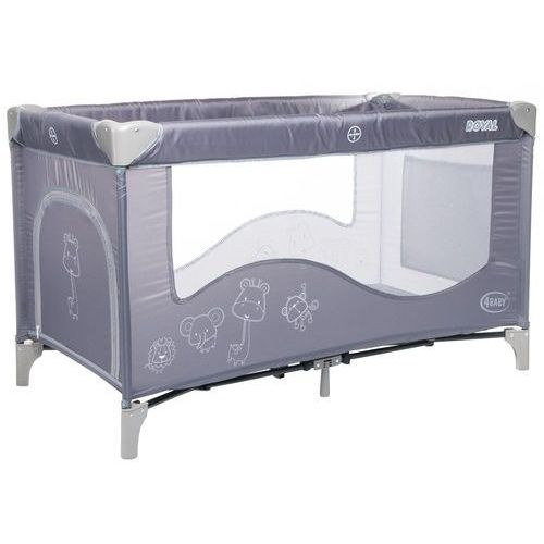 4baby łóżeczko turystyczne royal, grey (5901691953109)