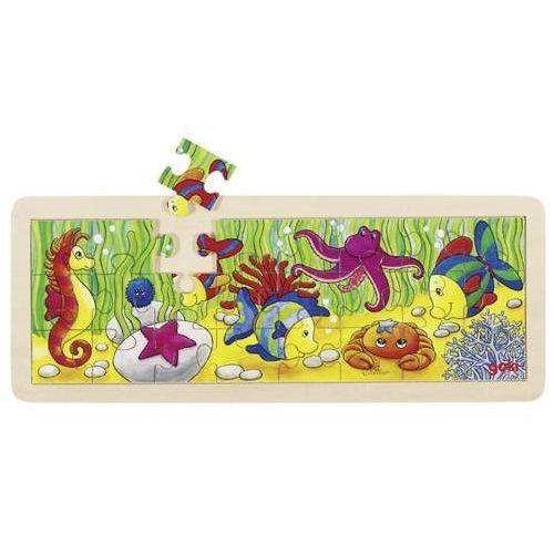 Puzzle drewniane dla dzieci, 24 elementy, podwodny świat, marki Goki
