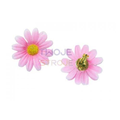 Lilalo.pl Klipsy kwiaty różowe