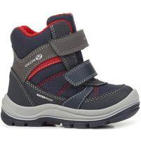 buty zimowe chłopięce trivor 22 szary/niebieski marki Geox