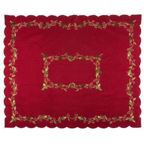 Forbyt obrus świąteczny ostrokrzew czerwony, 120 x 140 cm, 120 x 140 cm marki 4home