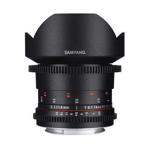 Samyang 14mm T3.1 VDSLR ED AS IF UMC II Canon - produkt w magazynie - szybka wysyłka!