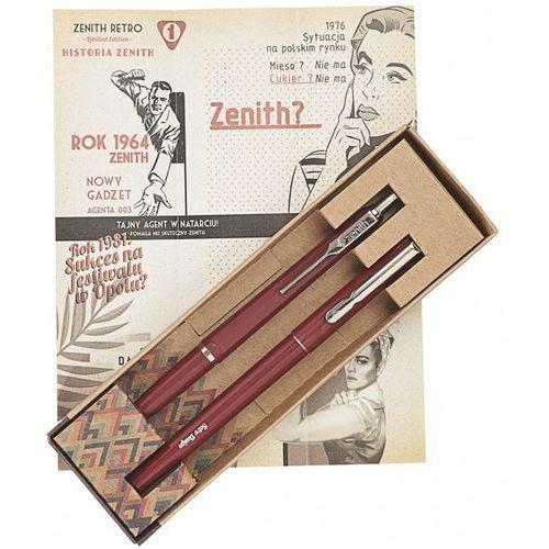 Zenith Komplet długopis -7 i pióro omega w etui retro bordowy (5907643322269)