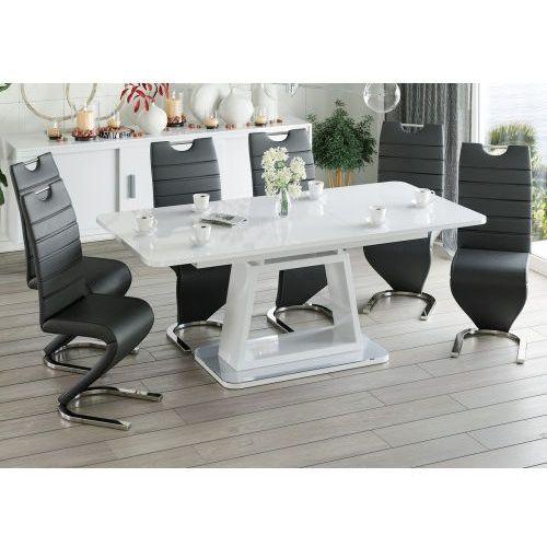 Stół edt-ve06 wysoki połysk 140/180 + 6 krzeseł dc-99-2 marki Meblemwm