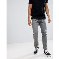 Burton menswear skinny chinos in grey - grey
