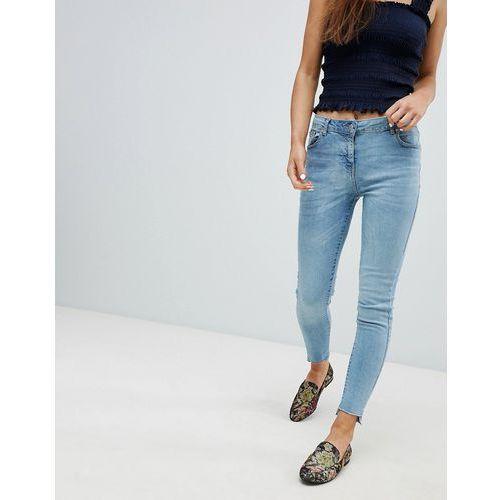 Parisian step hem skinny jeans - blue