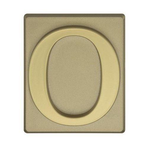 Cyfra 0 wys. 5 cm PVC oliwkowa (5906681288407)