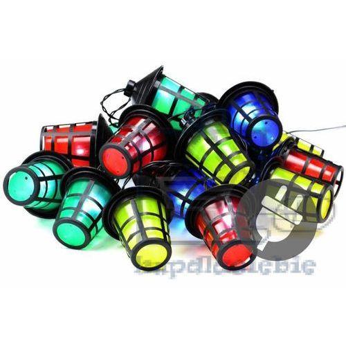 Kolorowe oświetlenie diodowe latarnie latarenki 20 led - 5 m marki Garthen