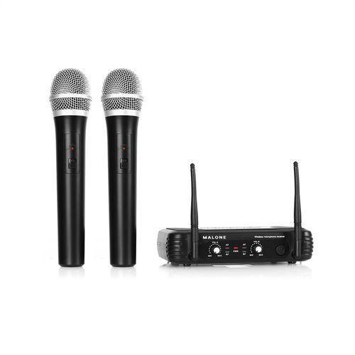 Malone  uhf-250 duo1 2-kanałowy zestaw mikrofonów bezp. uhf