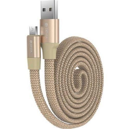 Kabel DEVIA Ring Y1 micro USB Złoty (6952897998615)