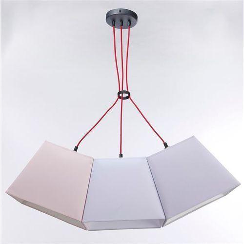 Namat Lampa wisząca werder 3 3234 - pastelowy łosoś/pastelowa jagoda/biały mat