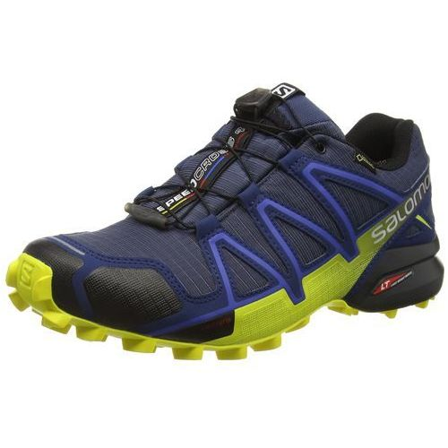 Salomon SPEEDCROSS 4 GTX TRAIL Obuwie do biegania Szlak slate blue/blue depth/corona yellow, D8631