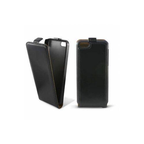 KSIX Etui FLIP UP skórzane dedykowane do Apple iPhone 5C - czarne Odbiór osobisty w ponad 40 miastach lub kurier 24h - produkt z kategorii- Futerały i pokrowce do telefonów