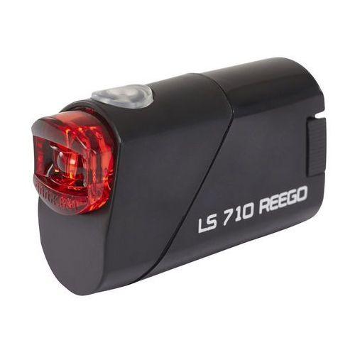 Trelock LS 710 Reego Lampka rowerowa tylna szary/czarny Lampki tylne na baterie