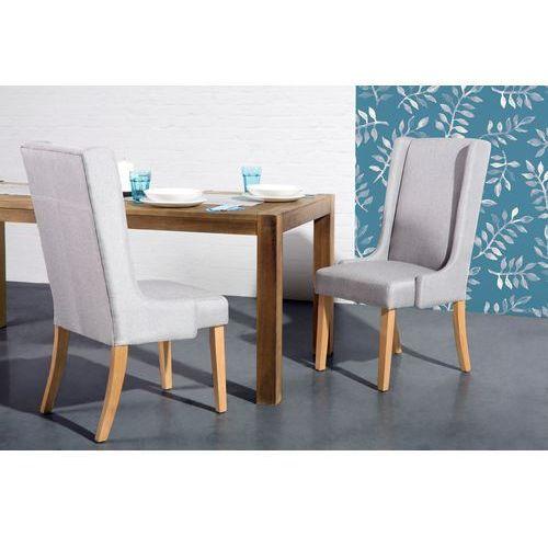 Krzesło jasnoszare - do jadalni - do kuchni - tapicerowane - chambers wyprodukowany przez Beliani