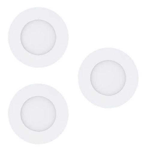 Oczko LAMPA sufitowa FUEVA 1 94732 Eglo podtynkowa OPRAWA minimalistyczna LED 3W okrągły WPUST komplet 3 szt. biały, 94732
