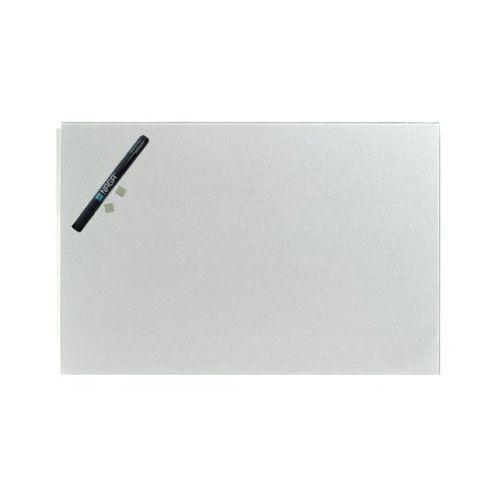 Naga szklana tablica magnetyczna srebrna 40x60 cm (10503)
