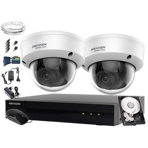 Telewizja przemysłowa do sklepu, magazynu, zaplecza Hikvision Hiwatch HWD-6104MH-G2, 2 x HWT-D320-VF, 1TB, Akcesoria