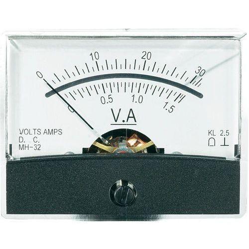 Analogowy wskaźnik panelowy VOLTCRAFT AM-60X46/30V/1,5A/DC, AM-60X46/30V/1,5A/DC