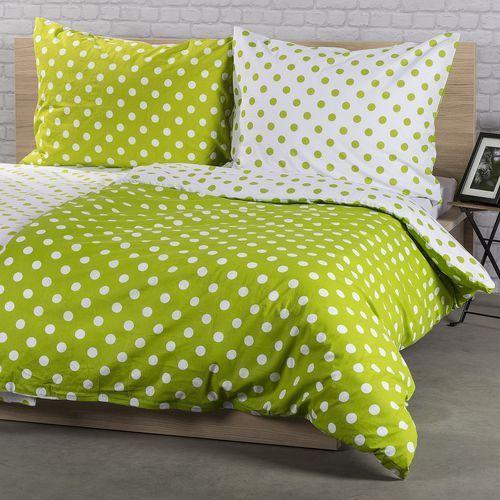 4Home Pościel bawełniana Zielona kropka, 160 x 200 cm, 2 szt. 70 x 80 cm, kolor zielony