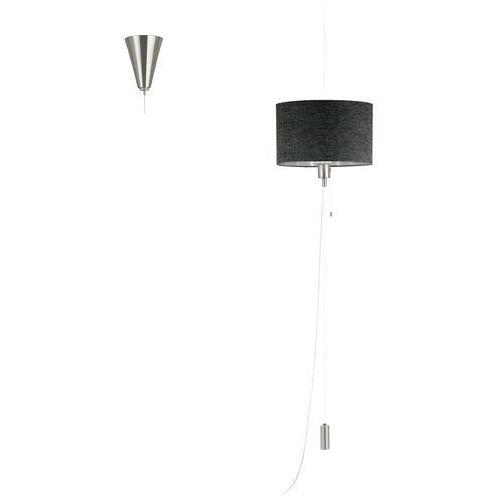 Eglo Lampa wisząca romao 1 96157 z abażurem zwis oprawa 1x60w led czarny/szary