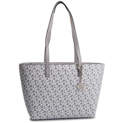 Torebka - bryant lg zip tote r74aj014 white logo/grey melange 6wl marki Dkny
