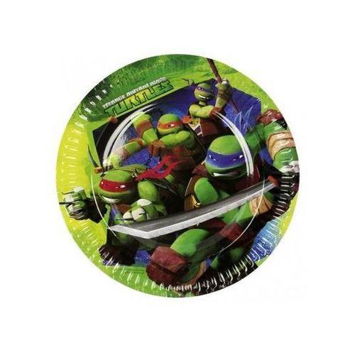 """Amscan Talerzyki papierowe """"żółwie ninja"""", , 23 cm, 8 szt (4009775468646)"""