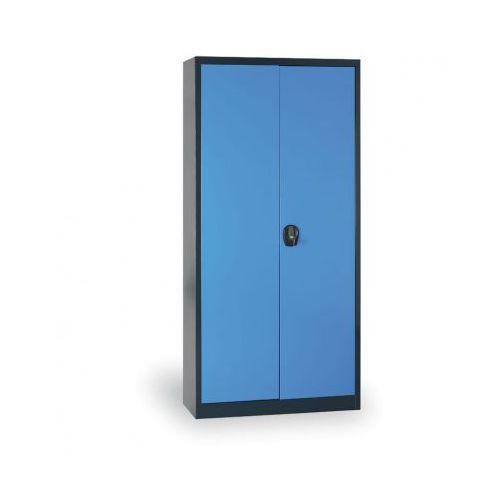 Szafa metalowa, 1950x920x400 mm, 4 półki, antracyt/niebieski