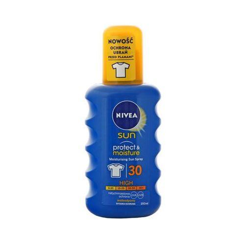 NIVEA 200ml Sun Protect and Moisture Nawilżający spray do opalania 30 wysoka ochrona