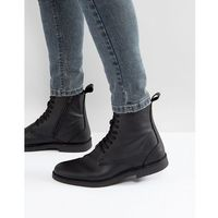 royce leather lace up boots in black - black marki Selected homme