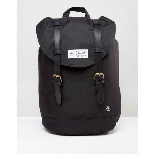 Original penguin  twin strap backpack - black