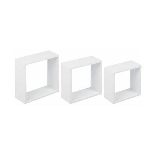 Spaceo Zestaw 3 półek ściennych 3tc biały mat duraline