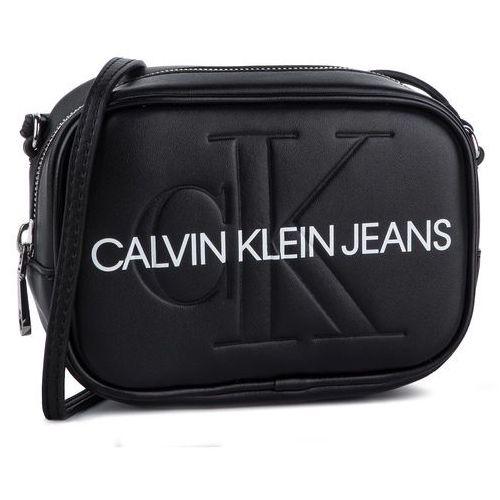 Torebka CALVIN KLEIN JEANS - Sculpted Monogram Camera Bag K60K605524 001, kolor czarny