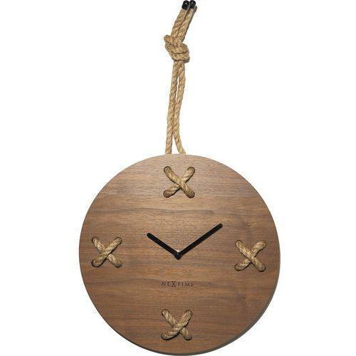 Zegar ścienny Stitch Nextime 33 cm (3111 BR), kolor brązowy