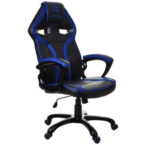 Giosedio Fotel biurowy czarno-niebieski,model gpr048
