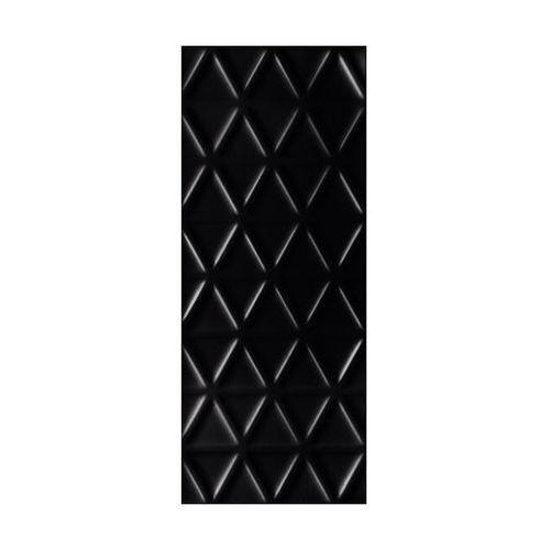 Tubądzin Glazura senza geo black 29.8 x 74.8 arte (5903238002493)